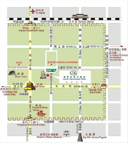 Aurum International Hotel Map