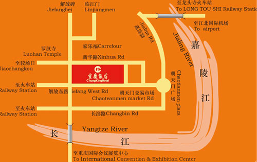Chungking Hotel Map