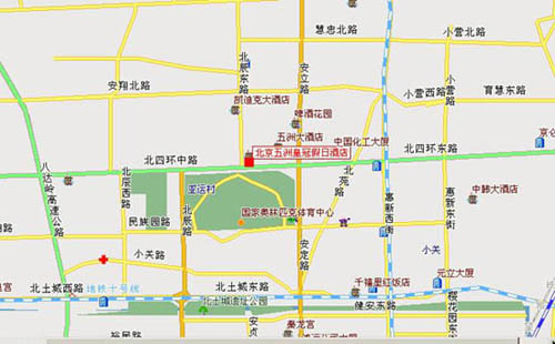 Crowne Plaza Parkview Wuzhou, Beijing Map