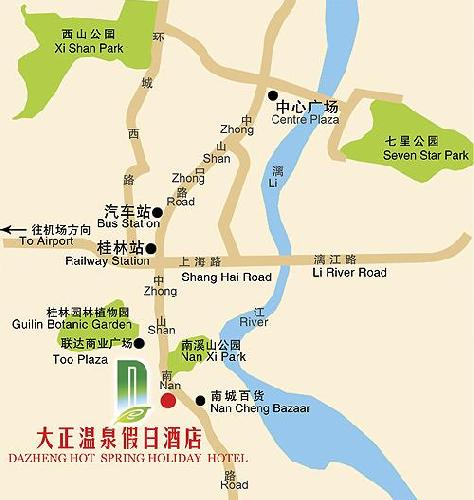 Dazheng Hot spring Holiday Hotel,Guilin Map