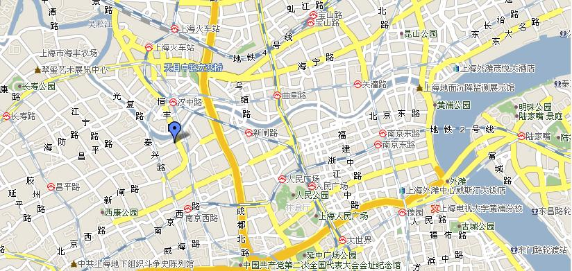 GreenTree Inn Shanghai Jingan Shimen 2Road Hotel Map