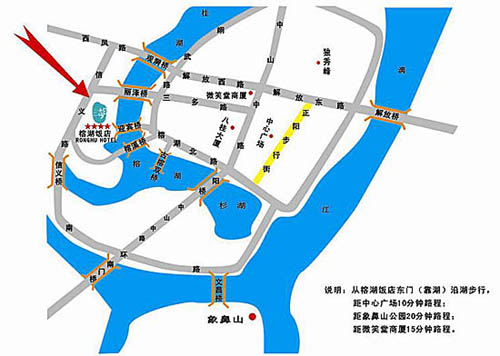 Guilin Ronghu Hotel Map