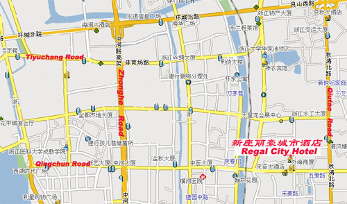 Hangzhou Regal City Hotel Mappa