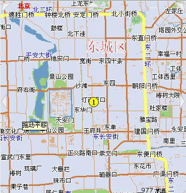 Holiday Inn Crowne Plaza Beijing Map