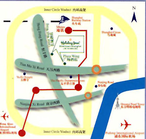 Holiday Inn Downtown, Shanghai Map