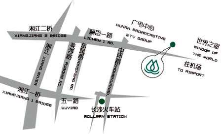 Saint-Tropez Hotel (Hunan Interntional Convention & Exhibition Hotel) Map