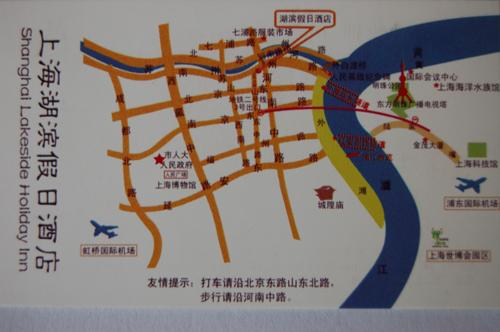 Lakeside Holiday Inn, Shanghai Map