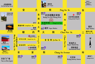 Beijing Double Happiness Courtyard Hotel Map